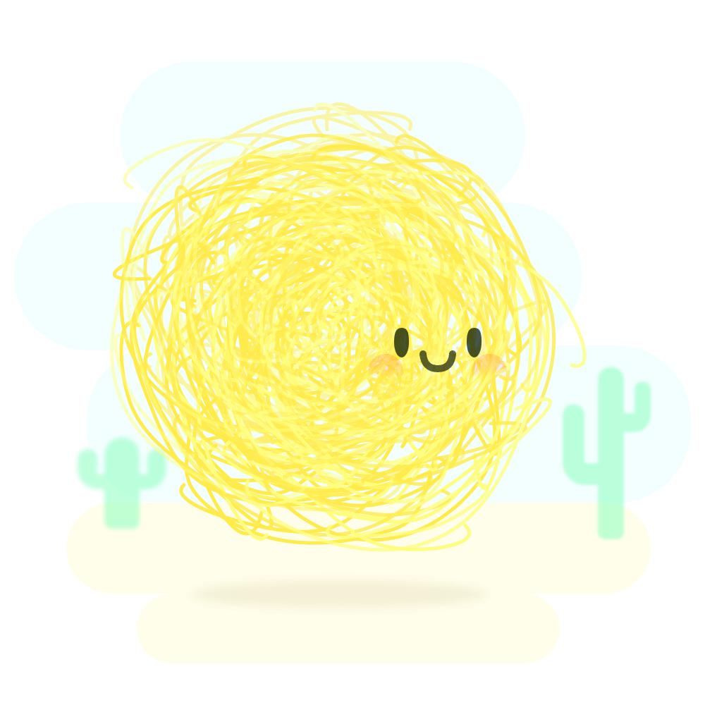 A happy little tumbleweed