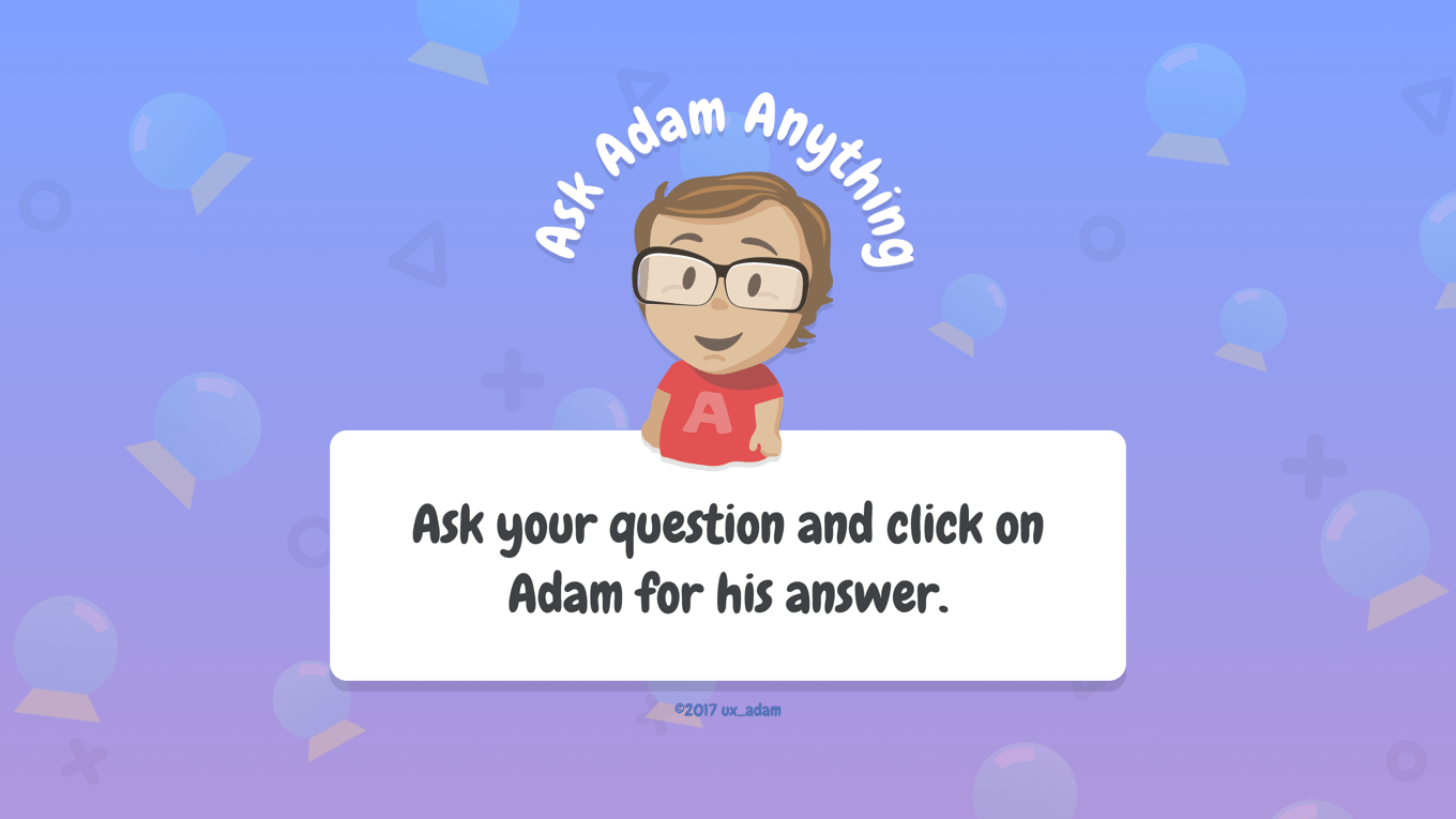 Ask Adam Anything website