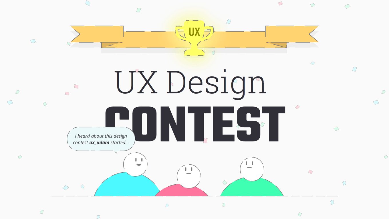 Screenshot of the UX Design Contest website